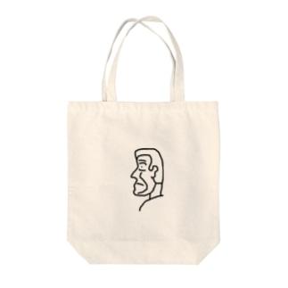 横顔さん Tote bags