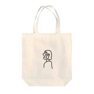 横顔ちゃん Tote bags