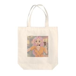 Selfy girl Tote bags