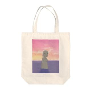 夕陽とファスナーちゃん Tote bags