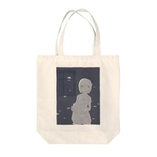 幽霊サカナと女の子 Tote bags