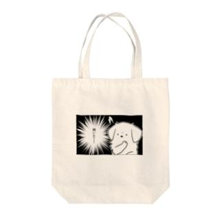 閃いたいぬ Tote bags