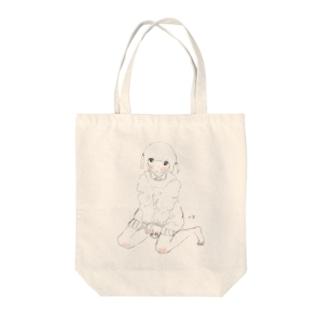 無色透明な学生ちゃん Tote bags
