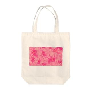重なりお花 Tote bags