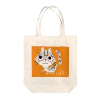 にゃんにゃんこ Tote bags