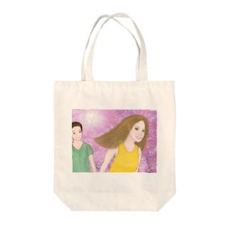 春のおでかけ Tote bags
