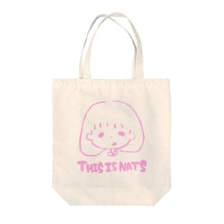ピンクのでぃっちゃん Tote bags