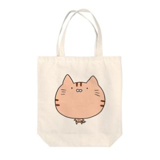 猫トートトラ Tote bags