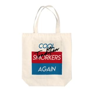 Cool Smokers Again Tote bags