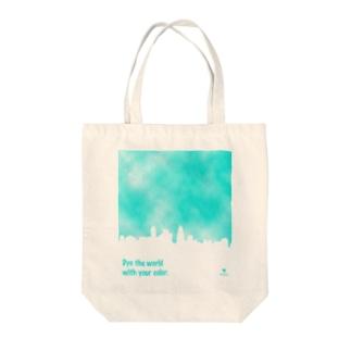染まる Tote bags