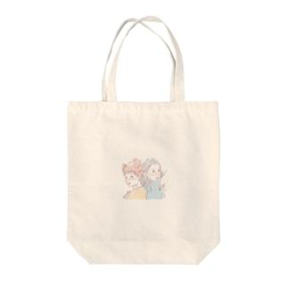 背中合わせちゃん Tote bags