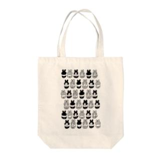 はちわれちゃん(黒・クリア) Tote bags