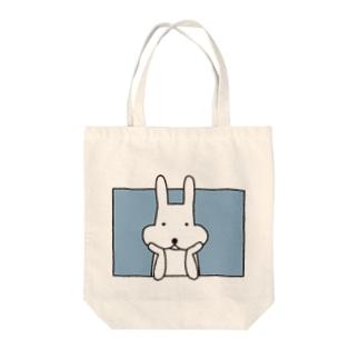 ほおづえ Tote bags