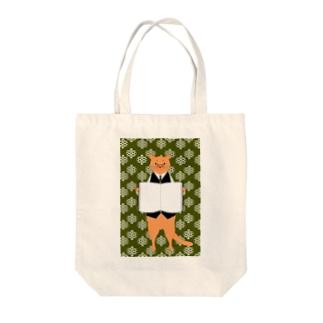 司書猫 アビシニアン Tote bags