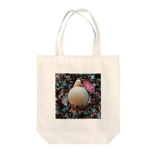 花柄雪チャン Tote bags