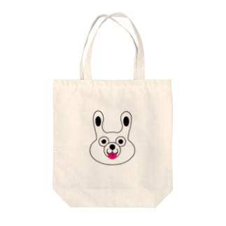 WHITE BUNNY 002 てへぺろ Tote bags