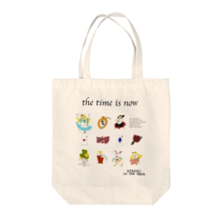 the time is nowシリーズ Tote bags