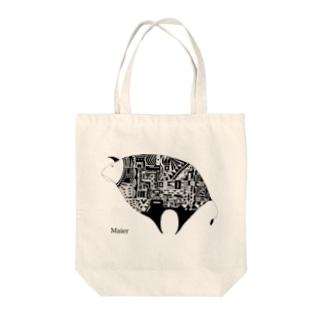 Cow monochrome Tote bags
