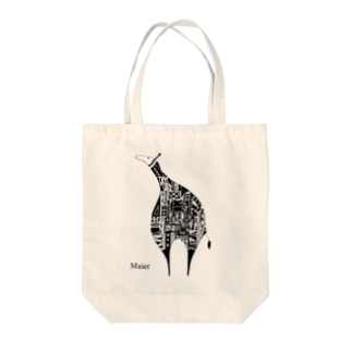Giraffe monochrome Tote bags
