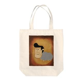 ヒツジン Tote bags