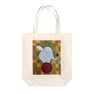ゾウサン Tote bags