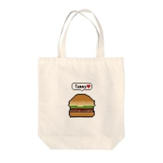 ハムハムバーガー Tote bags