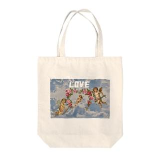 天使 in the sky Tote bags