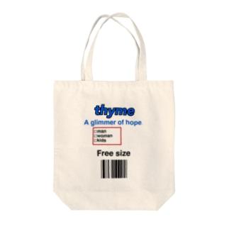 thyme タグデザイン Tote bags