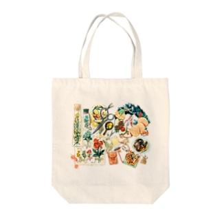 「花とドライフルーツ」 Tote bags