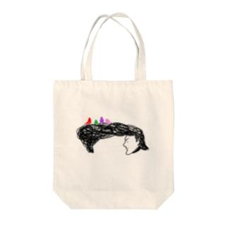 優しきリーゼント Tote bags