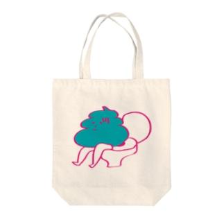 べんぴマン Tote bags