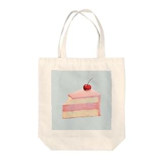 ピンクケーキ Tote bags