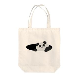 ひょっこりパンダさん Tote bags