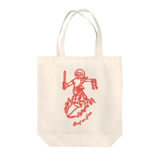 Surf(red) Tote bags