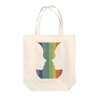 ルビンの壺 Tote bags