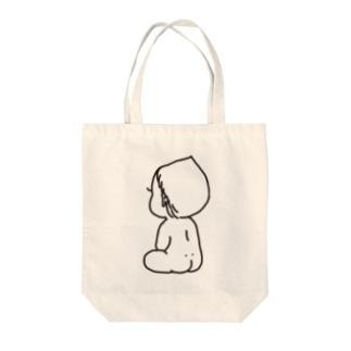 赤ちゃんblack Tote bags