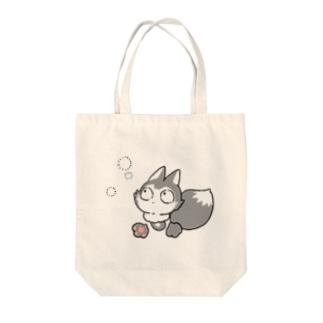 灰色キツネコ(見つける) Tote bags