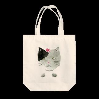 ハウズのお店屋さんのneko&spring Tote bags