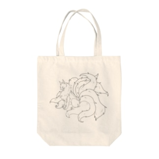九尾の狐 Tote bags