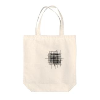 ムシャクシャの黒 Tote bags