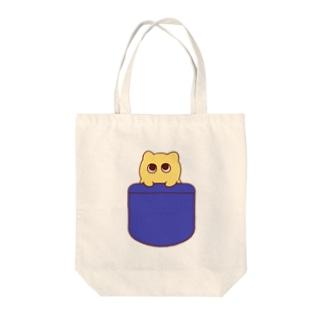 ねこちゃんの連れてってトート Tote bags
