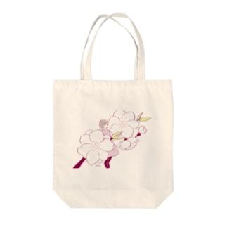 桃の花 Tote bags