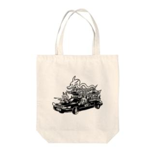 イルカの霊柩車 Tote bags