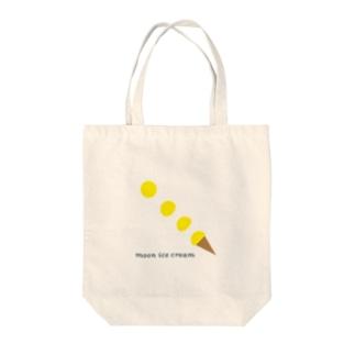 moon ice cream Tote bags