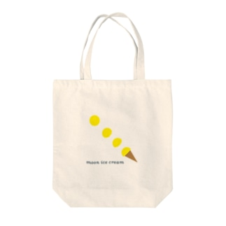moon ice cream Tote bags