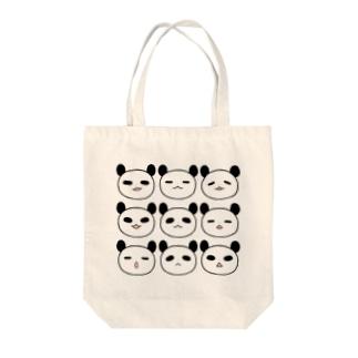 表情パンダ Tote bags