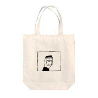 #コーヒースタンド Tote bags