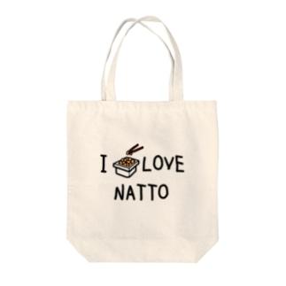 私は納豆好き Tote bags