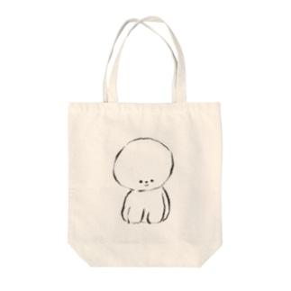 丸い犬。 Tote bags