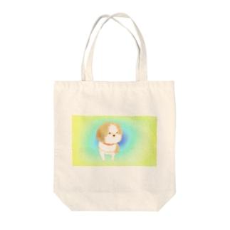 お散歩シーズーちゃん Tote bags